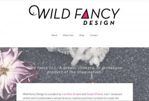 A screenshot of a website for Wild Fancy Design