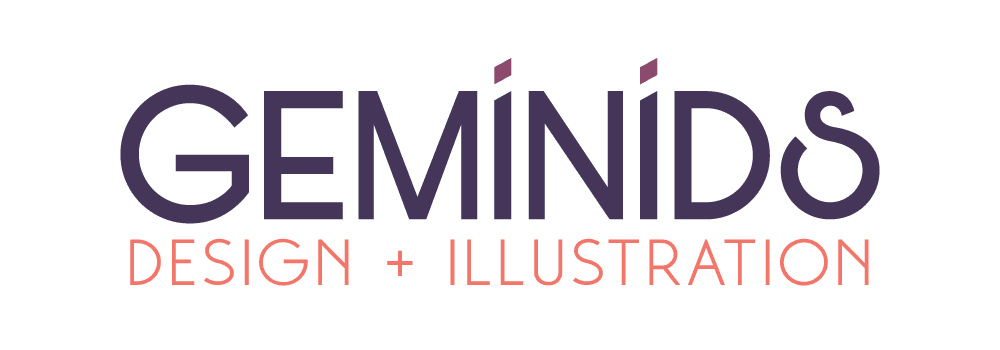 logo: GEMINIDS design + illustration